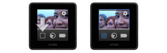 Lytro picture taking: Everyday mode vs. Creative mode