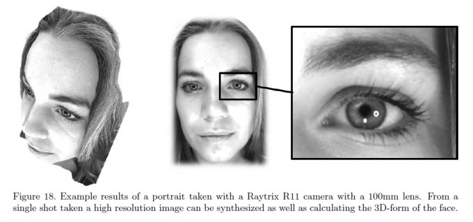 Sample Photo taken with a Raytrix R11 can be used to create a high-resolution image as well as 3D projection (from: Perwaß & Witzke 2012)