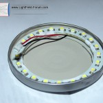 You should now be able to place the LED ring inside. Mark the inner edge of the circle with a permanent marker.