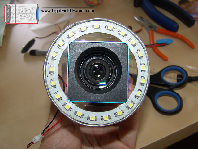 How to make your own Lytro DIY ring light