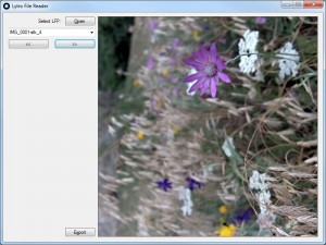 Lytro.Windows - easy viewing and exporting of LightField picture stacks