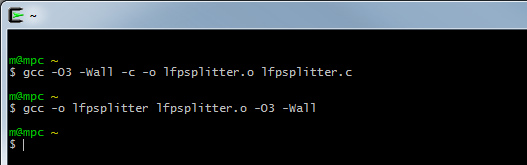 Compile lfptools for your system using Cygwin
