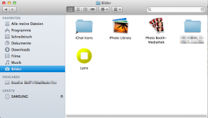 On your Mac, open <strong>Finder </strong>and go to your <strong>Pictures</strong> directory.