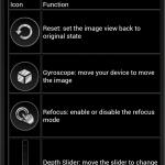 Raytrix Android App: Erklärung einiger Software-Features in der Hilfe
