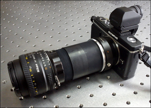 CAFADIS LightField Lens Prototype used with an Olympus E-P1 camera