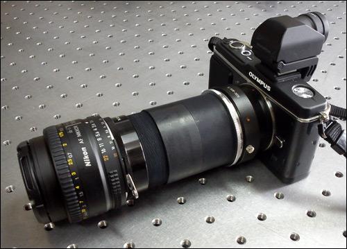 CAFADIS LightField Lens Prototype used with an Olympus E-P1 camera