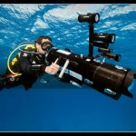 The CAFADIS camera prototype has been used in conjunction with a custom-made underwater housing to produce the world's first truly underwater 3D LightField images (photo: Jacques Mezger)