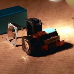 Lytro LightField Camera, front lens assembly [How to disassemble your Lytro Camera] (photo: Josh Reich)