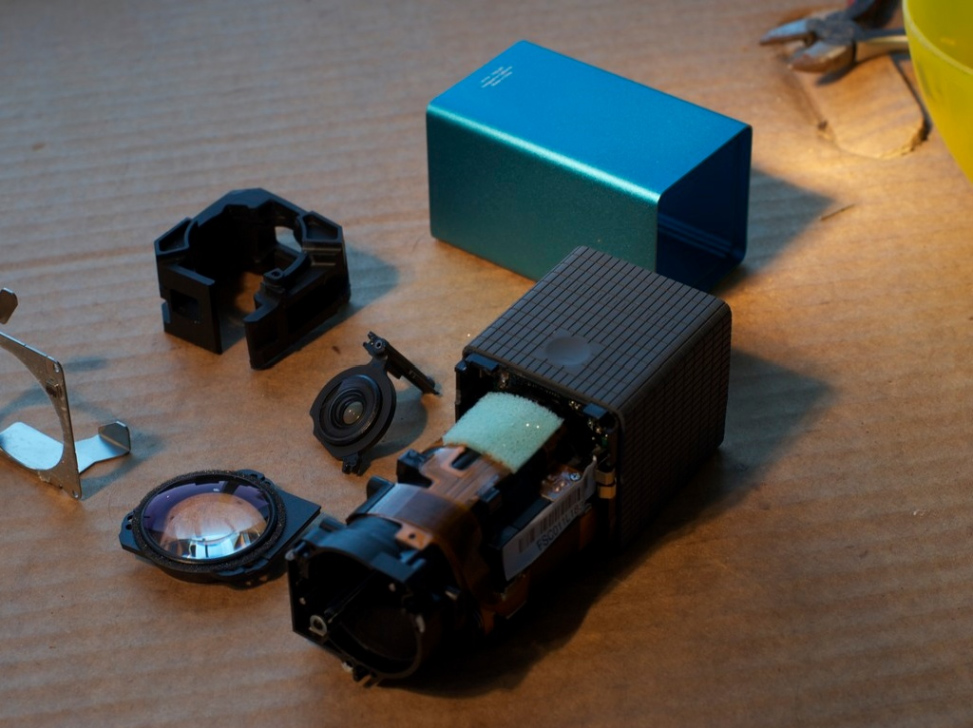 The internal life of a Lytro LightField Camera Lytro LightField Camera, front lens assembly [How to disassemble your Lytro Camera] (photo: Josh Reich)