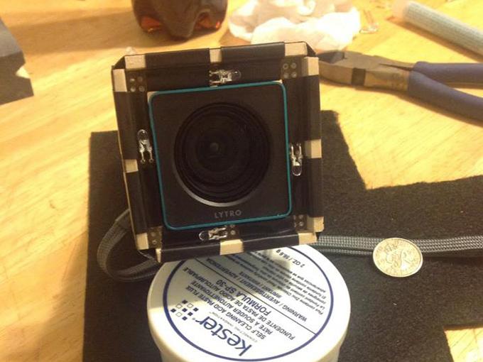 Lytro modifikationen selbstgemacht: led ringlicht filter adapter
