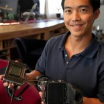 Ren Ng with prototype light field (4D) camera (photo: Eric Cheng, echeng.com)