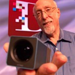 Walt Mossberg holds the Lytro LightField Camera at AsiaD (picture: Eric Cheng)