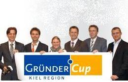 Laureates of GründerCup Kiel's 2009 Awards. Christian Perwass and Lennart Wietzke on the left. (Picture: GründerCup Kiel)