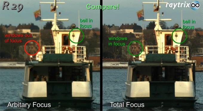 Screenshot: Extended depth of field demo, R29 LightField camera