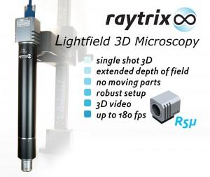 3D Lichtfeld Mikroskopie: Raytrix präsentiert die R5µ (Bild: Raytrix)