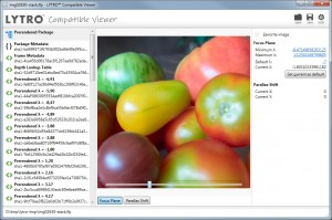 Lytro Compatible Viewer: Software refocus with processed image stack