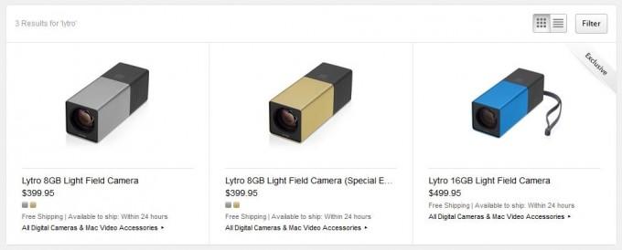 Lytro im Apple Online Store, zwei neue Kamera-Modelle