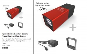 Special Edition Red Hot camera engraved with Lytro founder Ren Ng's signature (picture: Lytro)