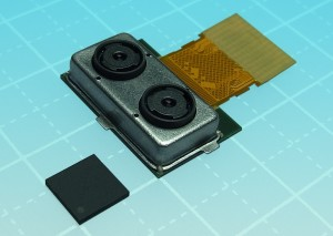 Toshiba Prepares First Sample Shipments of TCM9518MD Dual Camera Module with Refocus and More (picture: Business Wire)
