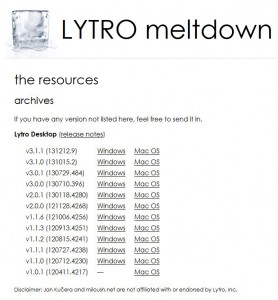 Lytro Desktop Archive: Find older versions of Lytro Desktop for Windows and Mac OS