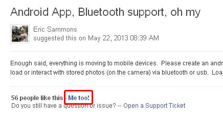 "Screenshot: How to support the ""Android app"" feature request"