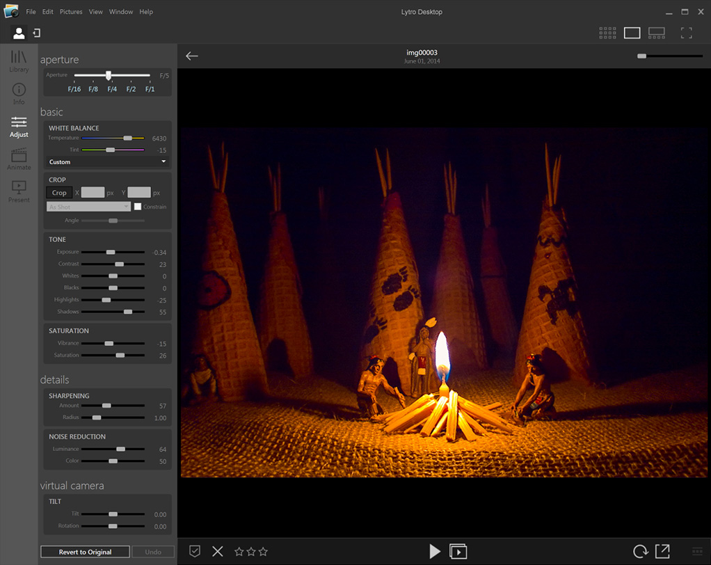 Lytro Quietly Releases Lytro Desktop 4.0 for the Illum (screenshot: Lytro)