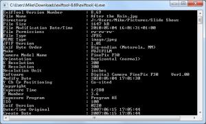 ExifTool 9.70: Unterstützung für Lytro LFP-Dateien