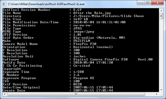 ExifTool 9.70 brings Support for Lytro LFP Files