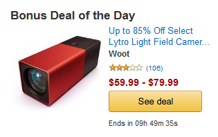 Amazon.com: Select Lytro Light Field Cameras up to 88% Off, Only Today