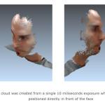 3D-Punktwolke aus einer einzigen Frontal-Aufnahme mit LinX-Modul (Bild: LinX)