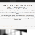 Lytro Cinema: Official Product Information (Website Screenshot, 26.03.2017)