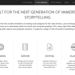 Lytro Immerge: Official Product Information (Website Screenshot, 16.04.2017)