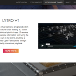 Lytro Volume Tracer - Official Product Information (Website Screenshot, 27.03.2018)