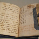 One of three Codices Forster - original notes by Leonardo Da Vinci bound into books (photo: Wikipedia User Sailko, cc-by-sa-3.0 license)