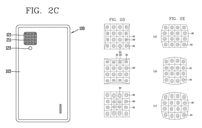 Lichtfeld Patent: LG Smartphone mit 4x4 Kamera-Raster